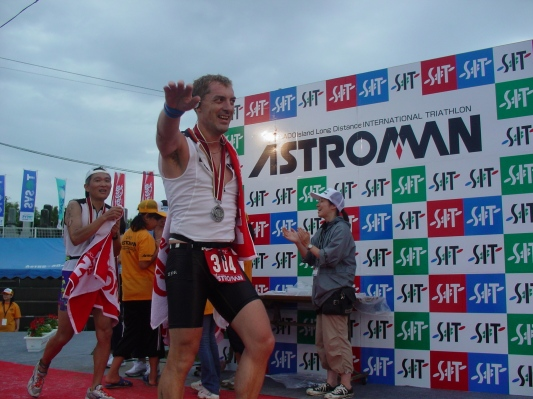 Finishing my first Half Ironman distance triathlon