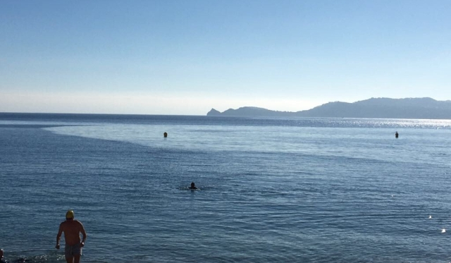 Swimming in the sea in Javea mid January