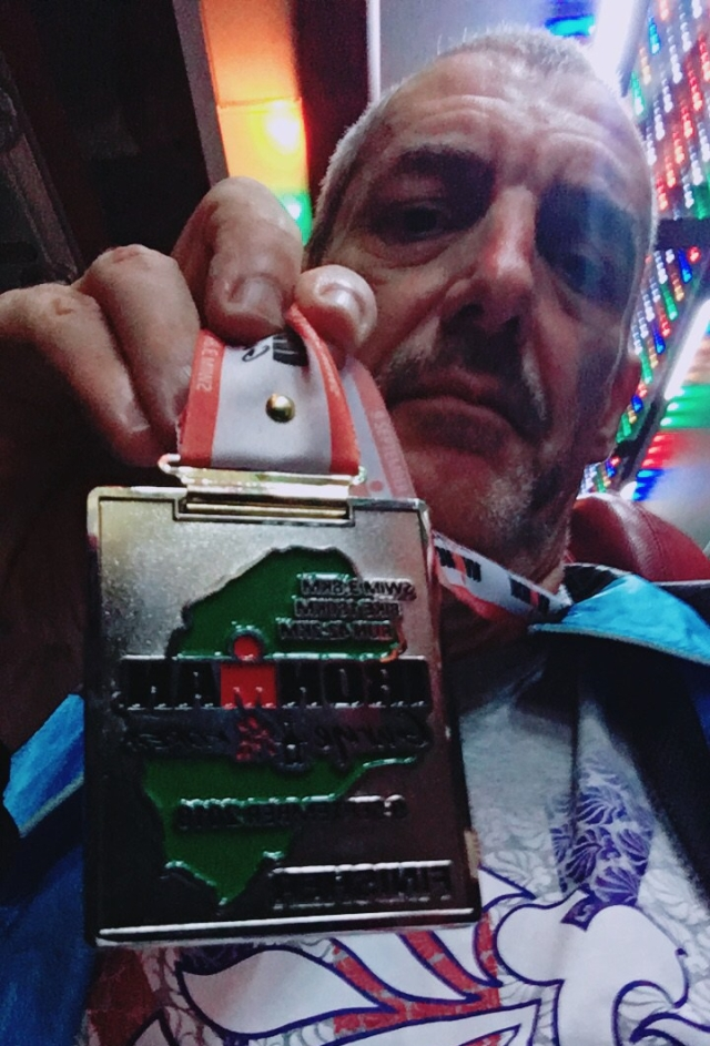 I got the run done! Ironman Gurye Finishers medal