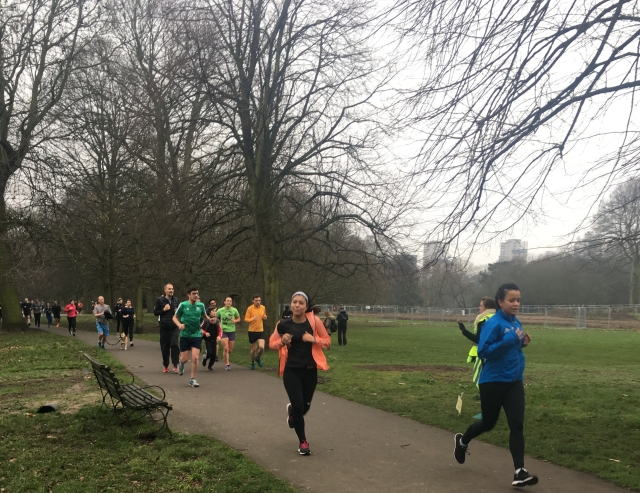 Park Run in Gunnersbury Park, Ealing
