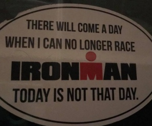 Ironman - as longas I can still train, I can still race