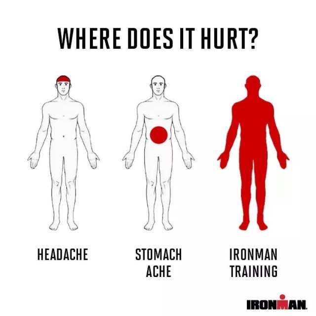 Ironman training pain