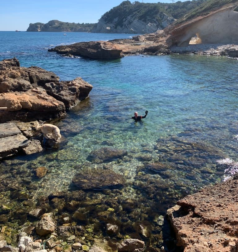 Swimming in Javea in March